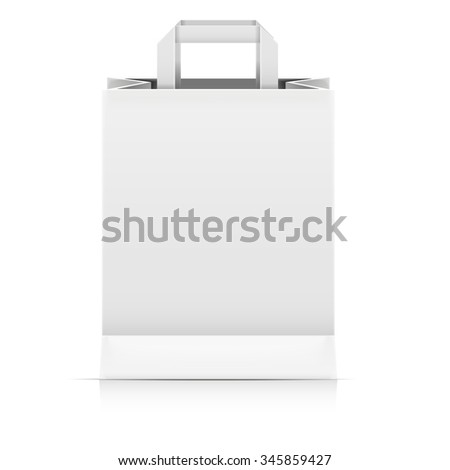 detailed illustration of a blank Paperbag packaging template, eps10 vector - stock vector
