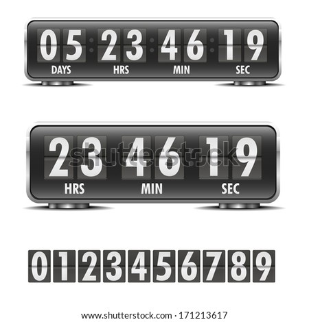 detailed illustration of a countdown timer, eps10 vector - stock vector
