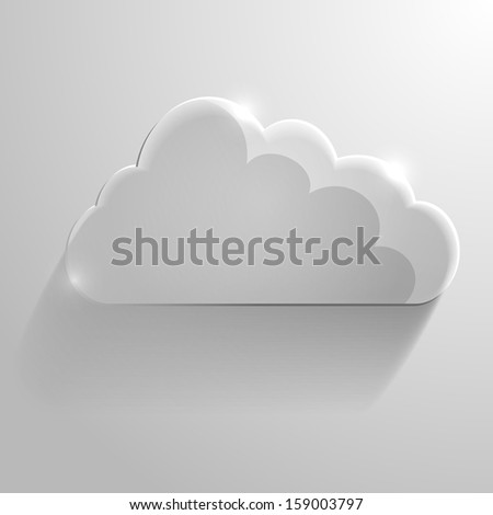 detailed illustration of a glossy cloud, symbol for cloud networking - stock vector