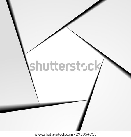 detailed illustration of a pentagram shaped infographic template layout, eps10 vector - stock vector