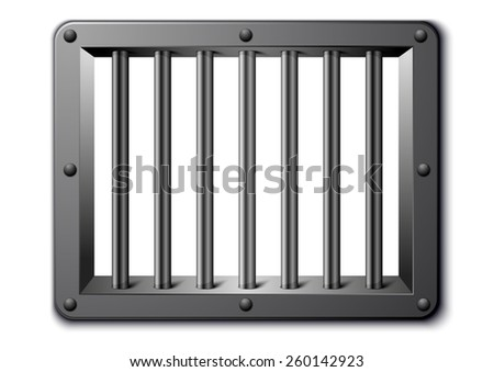 detailed illustration of a prison window, eps10 vector - stock vector