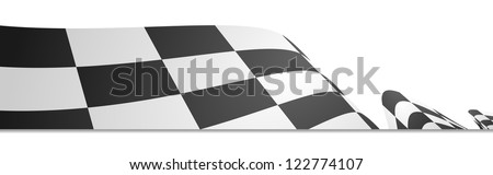 detailed illustration of a racing flag on a white background - stock vector