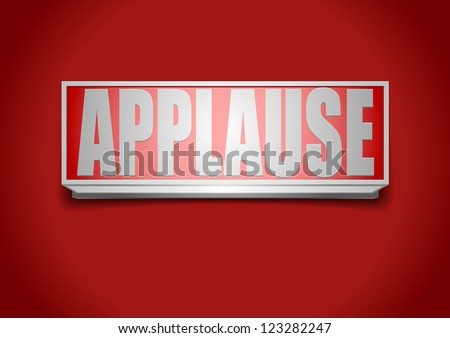 detailed illustration of a red applause sign - stock vector
