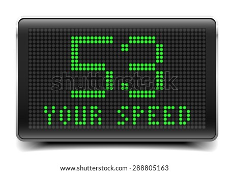 detailed illustration of a speed limit LED Panel, eps10 vector - stock vector