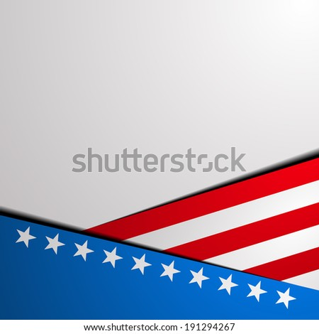 detailed illustration of a stylized patriotic star background, eps 10 vector  - stock vector