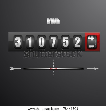 detailed illustration of an electric meter, eps10 vector - stock vector