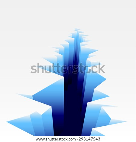 detailed illustration of an Ice Crack, eps10 vector - stock vector