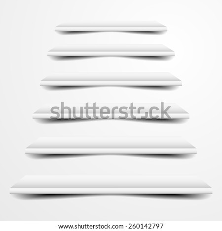 detailed illustration of grey stairs, eps10 vector - stock vector