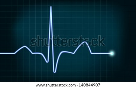 detailed illustration of of a heartbeat curve background, eps10 vector, gradient mesh included - stock vector