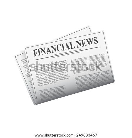 Detailed newspaper isolated on white background for e-business, web sites, mobile applications, banners, corporate brochures, book covers, layouts etc. Vector eps10 illustration - stock vector