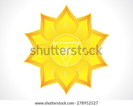 detailed solar plexus chakra vector illustration - stock vector