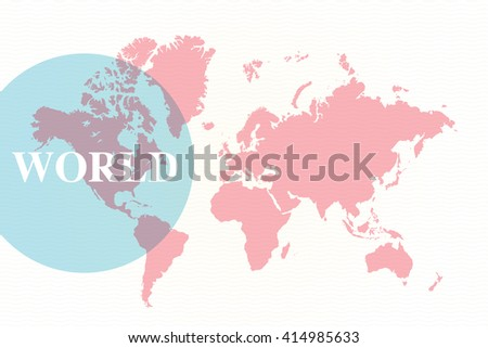 Detailed World Map (all countries are fully editable) - stock vector