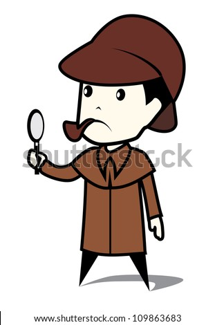 detective man - stock vector