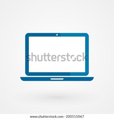 Device icon: laptop - stock vector