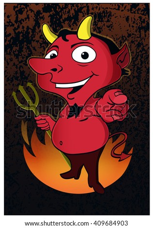 Devil's Welcome / A devil displays a friendly greeting. - stock vector