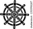 Dharma Wheel of Fortune, Spirituality, Buddhism,  - stock vector