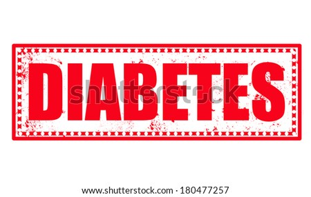 diabetes grunge stamp with on vector illustration - stock vector