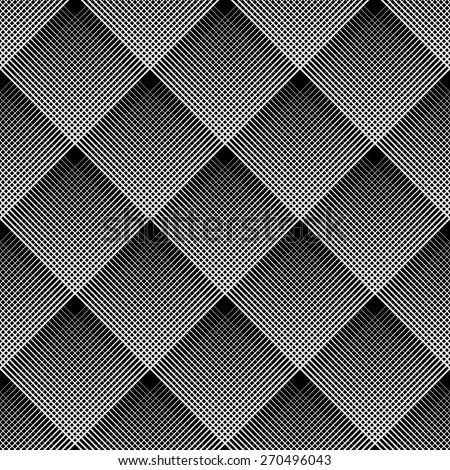Diagonal checked pattern. Seamless geometric texture. Vector art. - stock vector