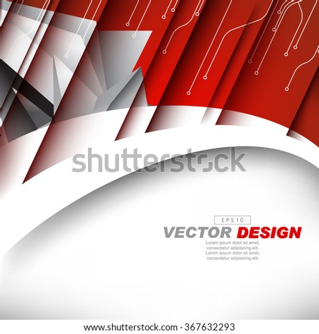 diagonal lines, circuit board concept corporate business background - stock vector