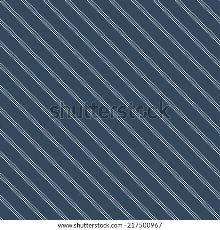 Diagonal lines with dots abstract seamless background - stock vector