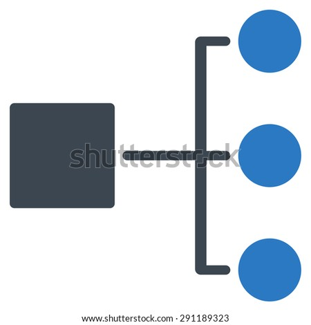 Diagram icon from Commerce Set. Vector style: bicolor flat symbol, smooth blue colors, rounded angles, white background. - stock vector