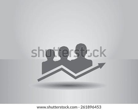 diagram icon, vector illustration. - stock vector