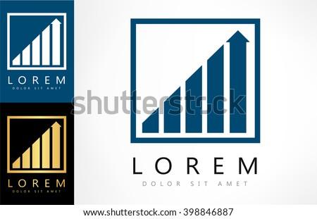 diagram logo vector - stock vector