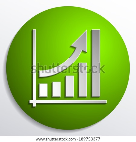 diagram of growth - stock vector