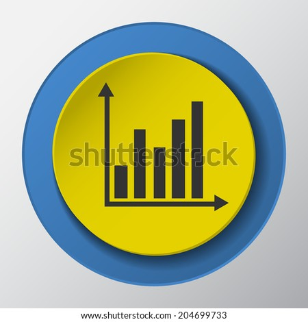 diagram paper icon with shadow. Vector illustrations. - stock vector