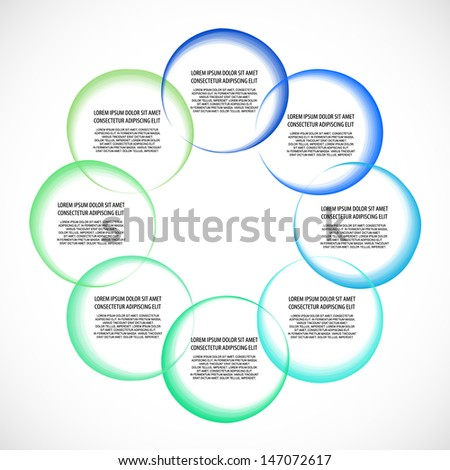 Diagram / schema. Place for your text or number  - stock vector