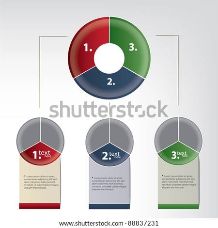 diagram template - stock vector