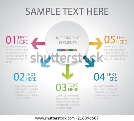 Diagram vector Easy to Edit , adjust color and size.  Shadow are made with transparency set to Multiply. - stock vector
