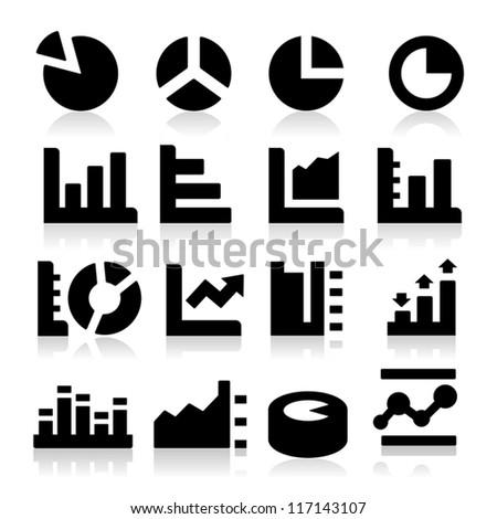 Diagrams Icons - stock vector