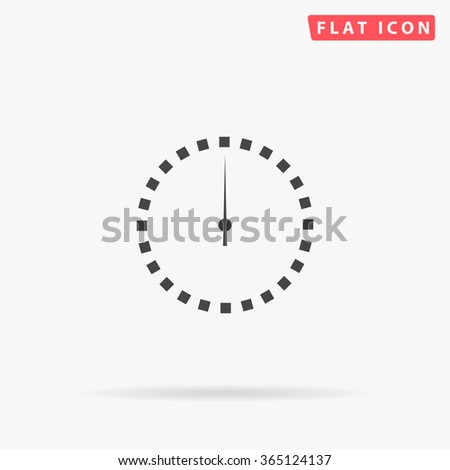 Dial clock Icon Vector.  - stock vector
