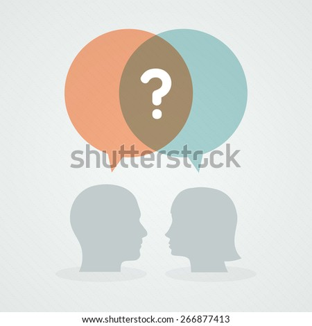 Dialog about doubts - stock vector
