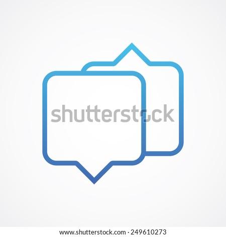 Dialog speech bubble line icon. Simple flat style vector illustration - stock vector