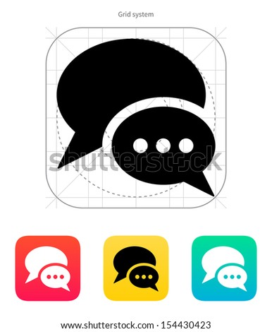 Dialogue bubble icon on white background. Vector illustration. - stock vector