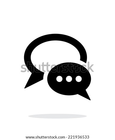 Dialogue bubble simple icon on white background. Vector illustration. - stock vector