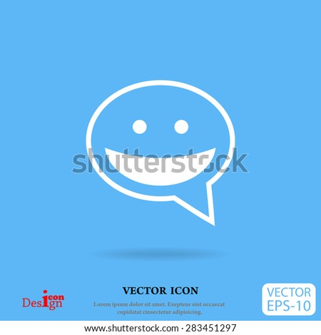 dialogue vector icon - stock vector