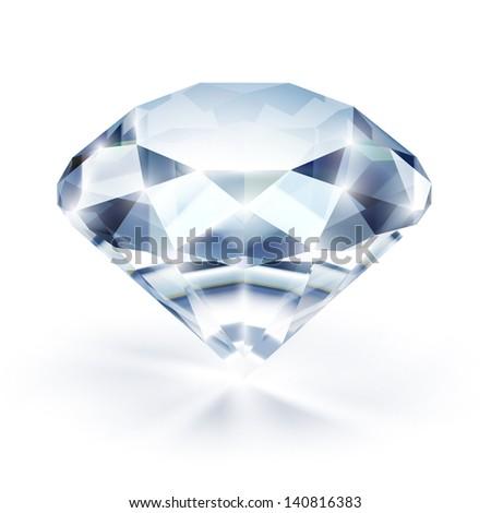 Diamond isolated on white - eps10 - stock vector