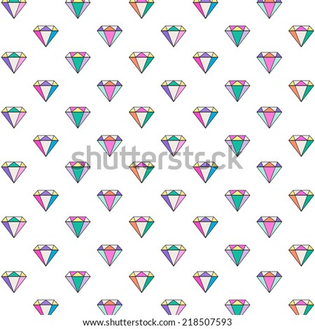 Diamond pattern background - stock vector