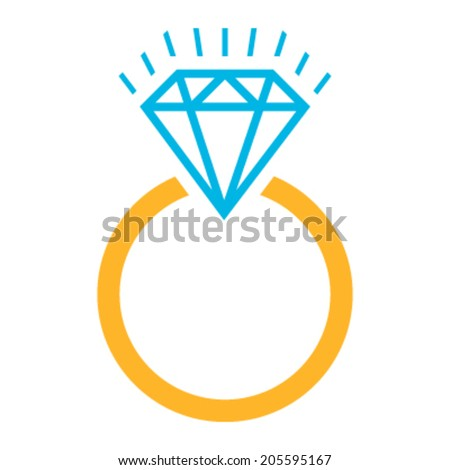 diamond ring vector icon - photo #3