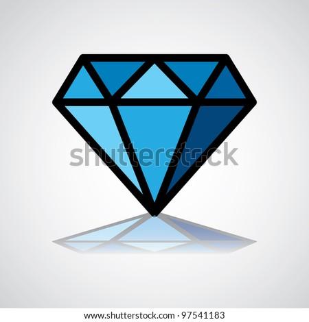 diamond symbol, design icon, concept identity - illustration - stock vector
