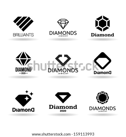 Diamonds (4) - stock vector