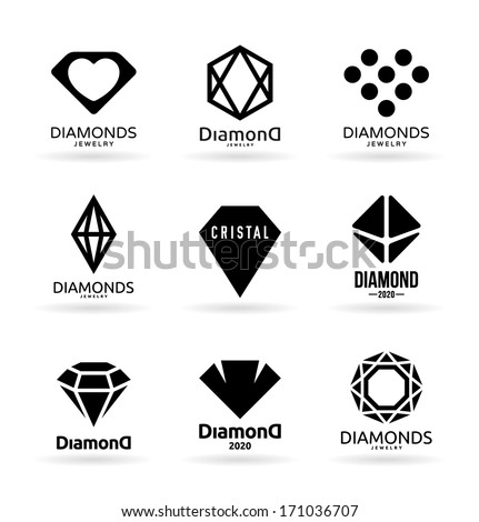 Diamonds (6) - stock vector