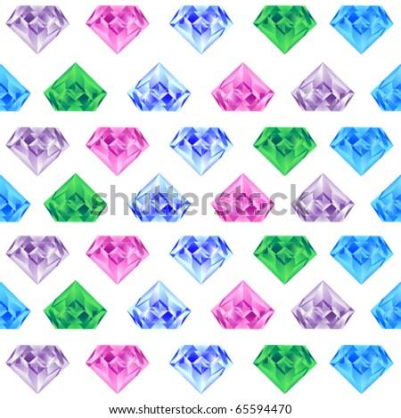 Diamonds background - stock vector