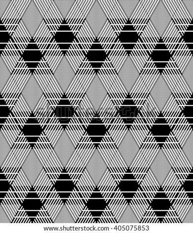 Diamonds pattern. Seamless geometric texture. Vector art. - stock vector