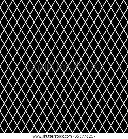 Diamonds pattern. Seamless latticed texture. Vector art. - stock vector