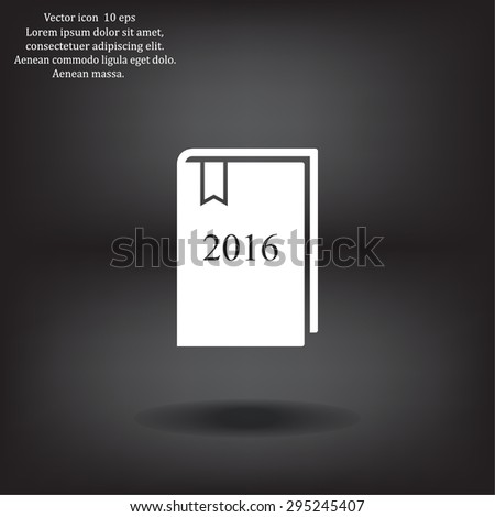 diary for 2016 - stock vector
