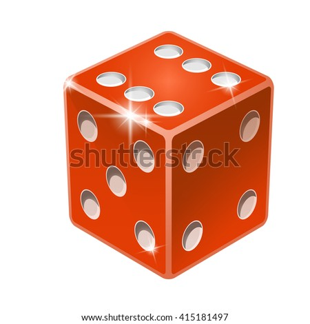 Dice for craps. Perspective - stock vector